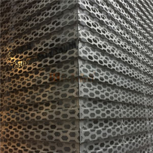Perforated Aluminum Decorative Panels with Rhombic Pattern for Audi Workshop pictures & photos
