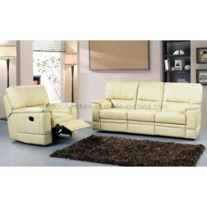 Living Room Genuine Leather Recliner Sofa (R-3008)