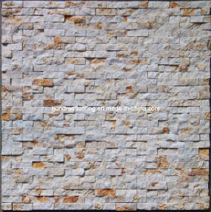 Natural Surface Wall Tile, Beige Marble Stone Mosaic (HSM101) pictures & photos