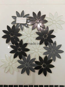 High Quality Flower Shape Glass and Marble Mixed Mosaic pictures & photos