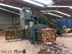 Horizontal Semi Automatic Cardboard Baler with Feeding Machine pictures & photos