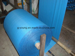 90GSM Blue Rolling PP Woven Laminated Fabric pictures & photos