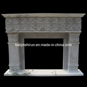 White Marble Antiue Fireplace (FRP553) pictures & photos