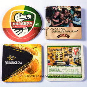 OEM Cheap Beer Coasters, Promotional Absorbent Paper Cup Mat pictures & photos