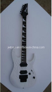 Pearl White Sharktooth Inlay Quality Custom Guitar pictures & photos