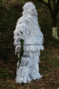 Camouflage Snow Ghillie Suit for Sniper to Go Hunting pictures & photos