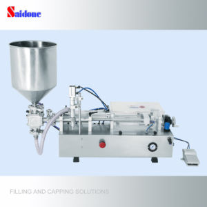 Semi-Automatic Piston Filling Machine with Hopper (horizontal type) pictures & photos
