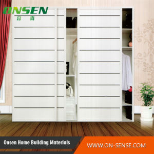 China high quality classic design pvc shutter series for Bedroom wardrobe shutter designs