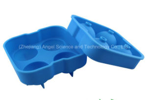 Popular Whisky Ice Ball Maker Mold with Cover Silicone Material Si17 pictures & photos