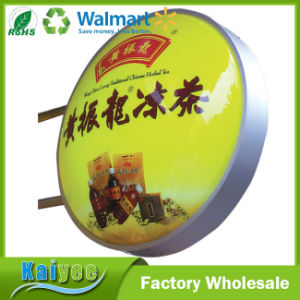 Promotion Outdoor Double Side Round LED Light Box pictures & photos