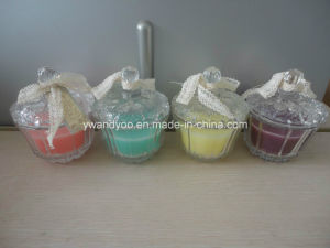 Luxury Crystal Glass Jar Candle with Ribbon pictures & photos