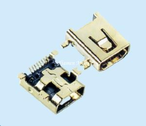 Mini USB Connector with 8p Female SMT