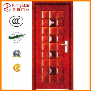 Steel Wood Armored Fire Door with High Quality