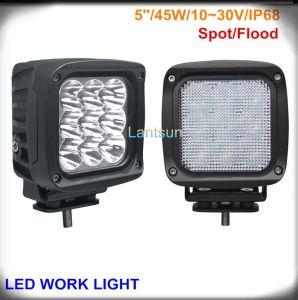 45W Squar Spot/Flood Beam LED Work Light for Offroad pictures & photos