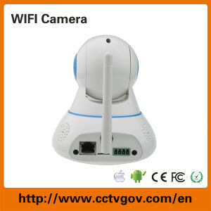 Robot Factory Direct WiFi PTZ Wireless 1.0MP CCTV Camera with Memory Card pictures & photos