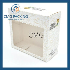 Custom Baby Shoes Paper Boxes with PVC Window pictures & photos