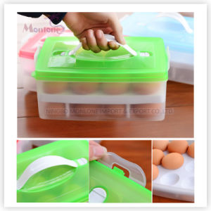Double-Layer Fresh-Keeping Egg Storage Container Box with Cover Lid pictures & photos