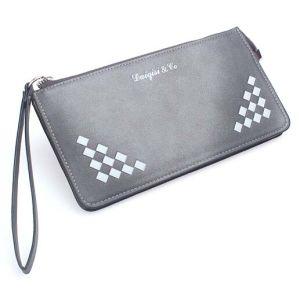 Factory Wholesale Fashion Envelope Rivets Purse Leather Wallet Bag (XQ0638) pictures & photos
