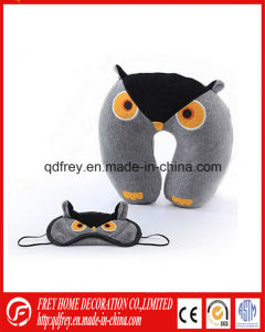 Plush Owl Toy Neck Cushion with Eye Mask pictures & photos