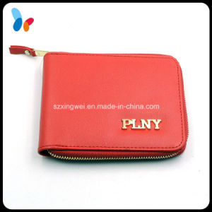 Custom Red Color PU Leather Wallet Lady Wallet pictures & photos
