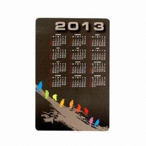 Magnetic Calendar, Measures 170 X 110mm, Customized Shapes Are Welcome