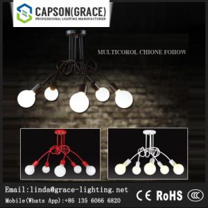 Iron Balck Chandelier Lamp or Ceiling Lighting Gx-5109-3/5 pictures & photos