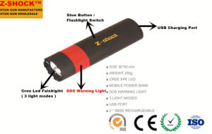 Stun Gun with Mobile Power Bank / Self Defensive pictures & photos