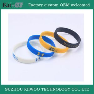 China Manufacture Customized Design Silicone Rubber Wristband