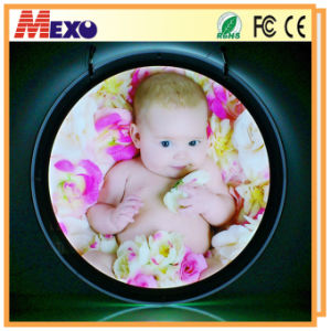 Special Round Style Crystal LED Photo Frame Light Box pictures & photos