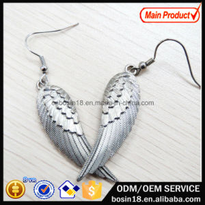Retro Silver Plated Wing Eardrop Fashion Earring #21305 pictures & photos