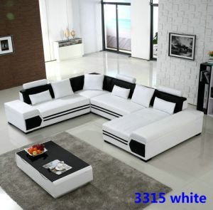 High Quality New Design Germany Living Room Leather Sofa pictures & photos