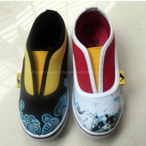 Latest Fashion Kids Slip on Casual Canvas Shoes (HH1613-13) pictures & photos