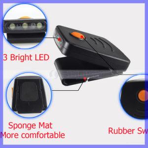 Mini 3LED Infrared Sensor Headlight USB Rechargeable Headlamp Cap Lamp Light pictures & photos