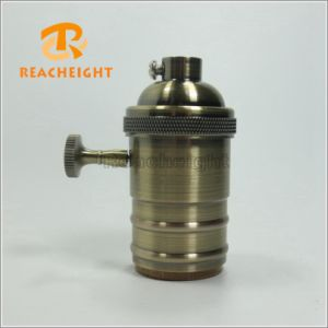 UL E26 Bronze Brass Lamp Socket with Switch pictures & photos