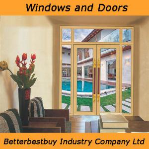 Golden Color Aluminum Door with Long Handle pictures & photos