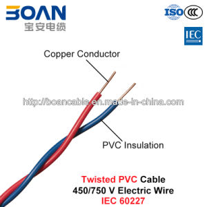 Twisted PVC Cable, Electric Wire, 450/750 V, Twisted Cu/PVC (IEC 60227) pictures & photos