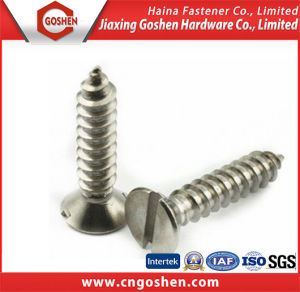 DIN7972 Slotted Countersunk Head Tapping Screws pictures & photos