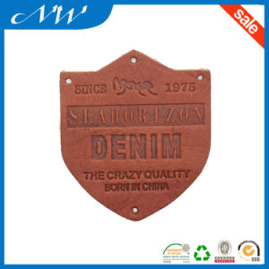Fashion Leather Patch Label Custom Private Leather Label pictures & photos
