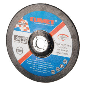 Depressed Center Grinding Wheel for Metal (100X6X16mm) Abrasive with MPa Certificates pictures & photos