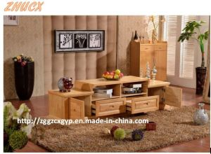 Solid Wood TV Cabinet Living Room Furniture Wooden Cabinet pictures & photos