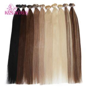 Keratin Hair Extension 100% Indian Human Hair pictures & photos