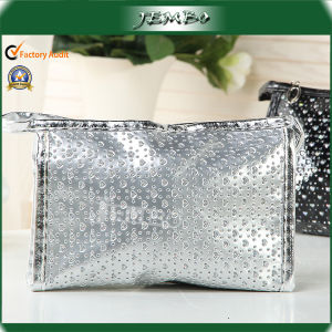 Silver White Promotional PVC Fashion Cosmetic Hand Bag pictures & photos
