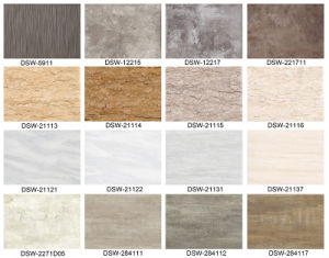 "6"" X 36"" Stone Effect Luxury Plastic Click Vinyl PVC Flooring pictures & photos"