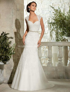 New Fashion Mermaid Wedding Gown Open Back Bridal Dress pictures & photos