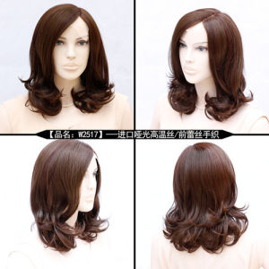 100pct Human Hair Lace Front Curly Wig pictures & photos