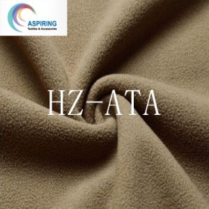 Anti-Static Super Soft Knitted Cationic Polyester Fabric with Polar Fleece pictures & photos