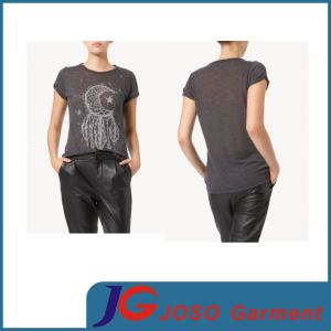 New Fashion Thin Women′s T Shirt Modal Tee (JS9017) pictures & photos