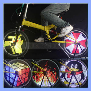 96LED RGB 13 Pictures Rechargeable Glowing Bike Bicycle Wheel Light pictures & photos