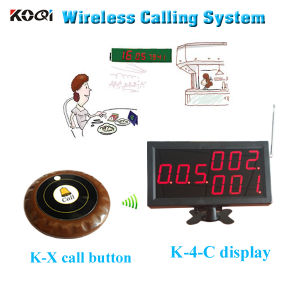 Wireless Transmission System with LED Display Receiver Calling Button pictures & photos