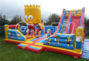 Bart Simpson Inflatable Jumping Bouncer Slide Inflatable Playground CB0801 pictures & photos